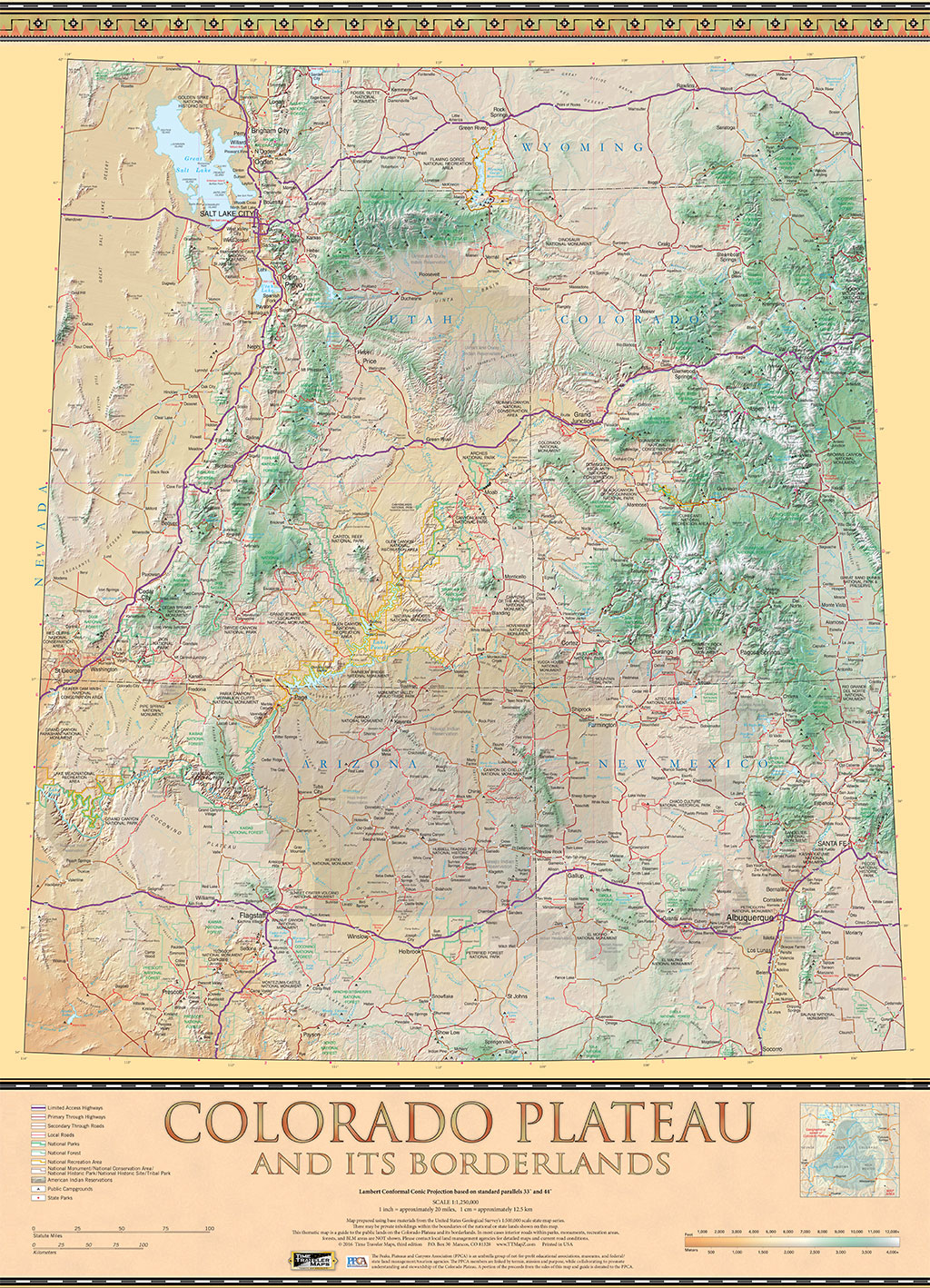 The colorado plateau map guide to public lands on the colorado the colorado plateau map guide to public lands on the colorado plateau its borderlands time traveler mapstime traveler maps publicscrutiny Images